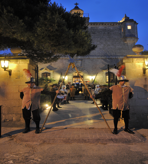 Entrance to a Knighting Ceremony