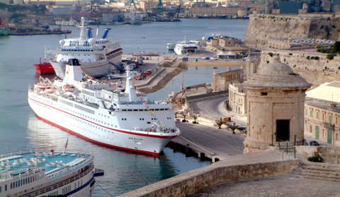 Cruise Liner in the Grand Harbour